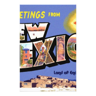 Greetings From New Mexico Stationery