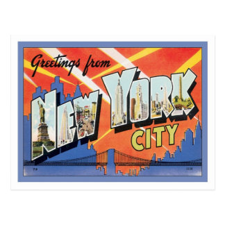 Greetings From New York City America Postcard