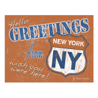 Greetings from New York City New York Postcard
