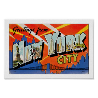 Greetings From New York City Print