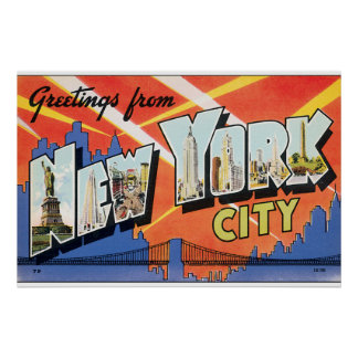 Greetings from New York City_Vintage Travel Poster