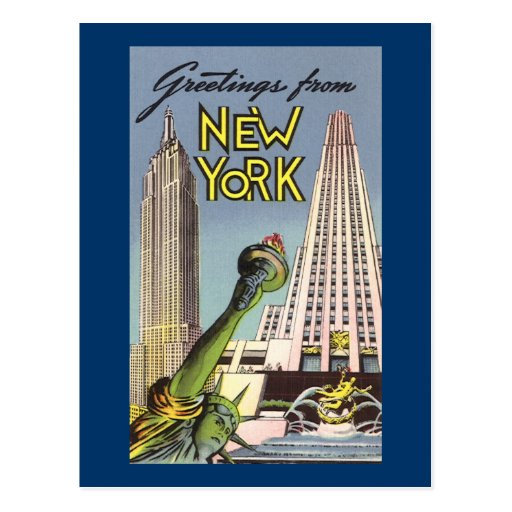 Greetings From New York Postcards