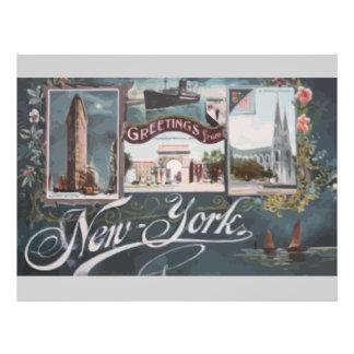 Greetings From New York Vintage Custom Flyer