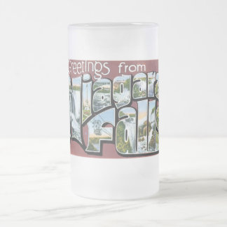 Greetings from Niagara Falls! Frosted Glass Mug