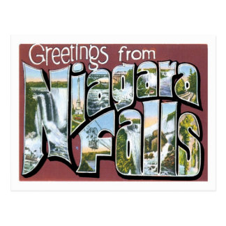 Greetings From Niagara Falls NY US City Postcard