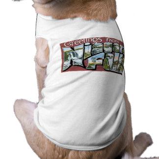 Greetings from Niagara Falls! Sleeveless Dog Shirt