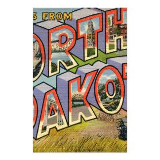 Greetings From North Dakota Stationery