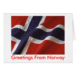 Greetings From Norway Card
