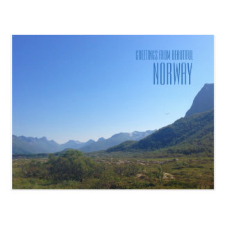 Greetings from Norway mountains photo card
