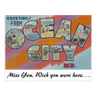 Greetings from Ocean City, Maryland Postcard