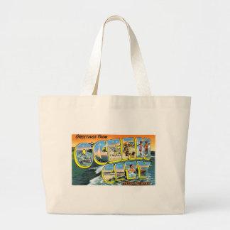 Greetings from Ocean City, New Jersey! Jumbo Tote Bag
