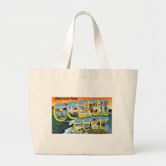 Greetings from Ocean City, New Jersey! Large Tote Bag