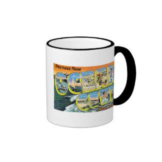 Greetings from Ocean City, New Jersey! Ringer Mug