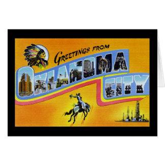 Greetings from Oklahoma City Oklahoma Greeting Card