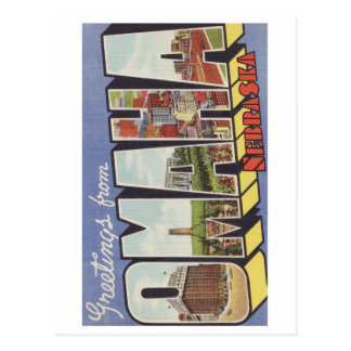 Greetings from Omaha NE Large Letter vintage theme Post Cards