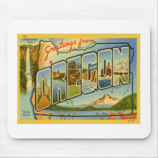 Greetings From Oregon OR Mouse Pad