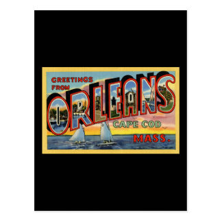 Greetings from Orleans Massachusetts Postcard