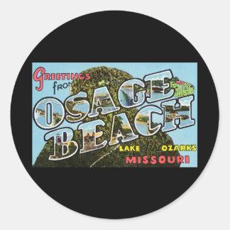 Greetings from Osage Beach Missouri Round Sticker