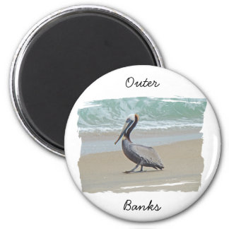 Greetings From Outer Banks OBX NC 6 Cm Round Magnet