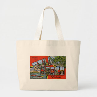 Greetings from Palm Beach Florida Large Tote Bag
