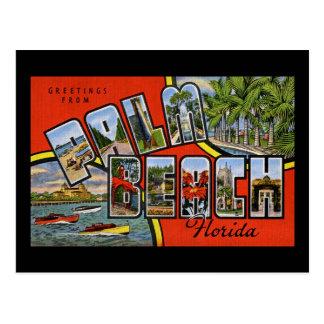 Greetings from Palm Beach Florida Postcard