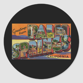 Greetings from Palm Springs California Classic Round Sticker