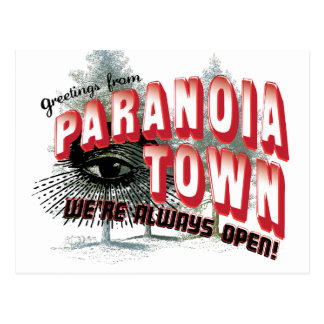 Greetings from Paranoia Town Post Cards