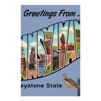 Greetings From Pennsylvania Stationery
