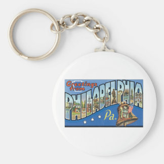 Greetings from Philadelphia, PA Key Ring