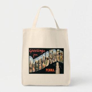 Greetings From Pittsburgh,Pennsylvania Tote Bag