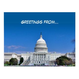 Greetings from... - Postcard - Template