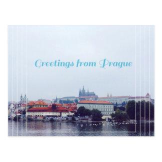 greetings from Prague, Czech Republic Postcard