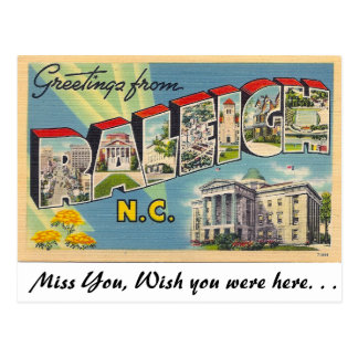 Greetings from Raleigh, North Carolina Postcard