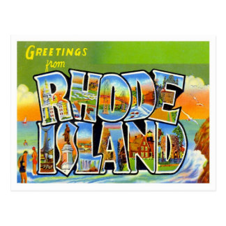 Greetings From Rhode Island Postcard