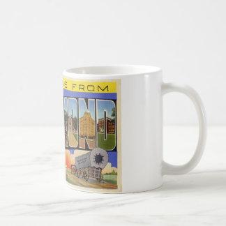 Greetings from Richmond Indiana Basic White Mug