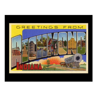 Greetings from Richmond Indiana Postcard