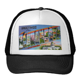 Greetings from Sacramento California Trucker Hat