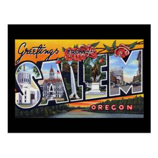 Greetings from Salem Oregon Postcard