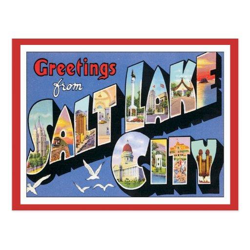 Greetings From Salt Lake City Utah Post Cards