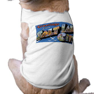 Greetings from Salt Lake City! Vintage & Retro! Pet T Shirt