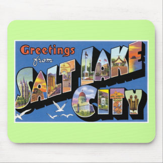 Greetings from Salt Lake City! Vintage & Retro! Mouse Pad