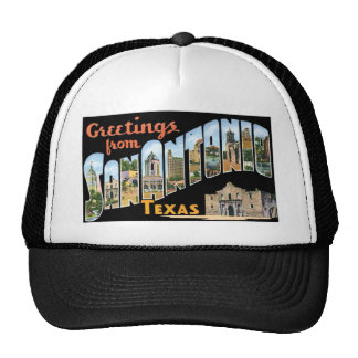 Greetings From San Antonio Texas Mesh Hats