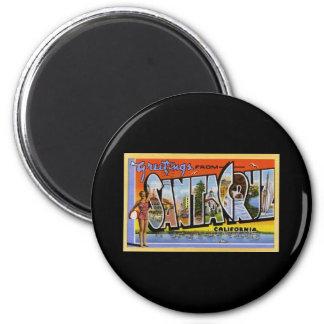 Greetings from Santa Cruz California 6 Cm Round Magnet