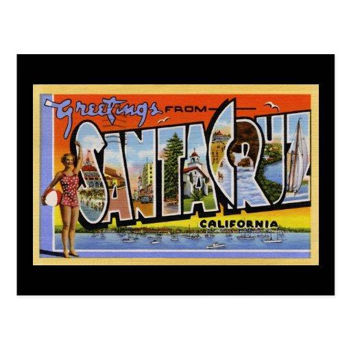 Greetings from Santa Cruz California Post Card