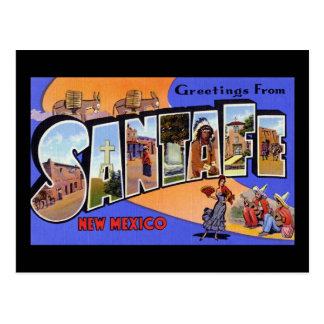 Greetings from Santa Fe New Mexico Postcard