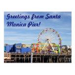 Greetings from Santa Monica Pier! Postcard