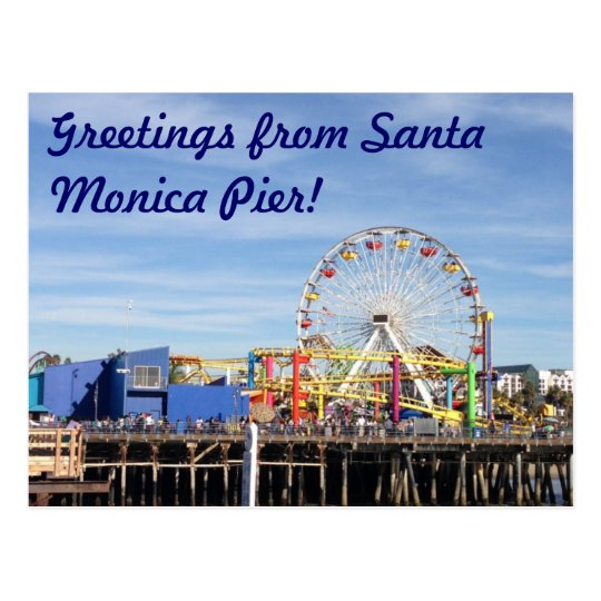 Greetings from Santa Monica Pier Postcard