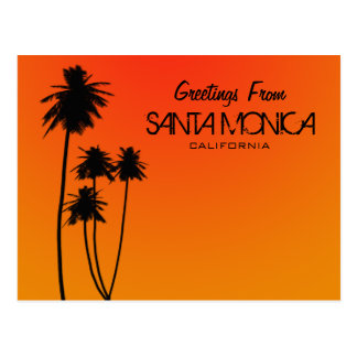 Greetings from Santa Monica Postcard