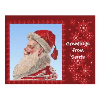 Greetings from Santa Postcard