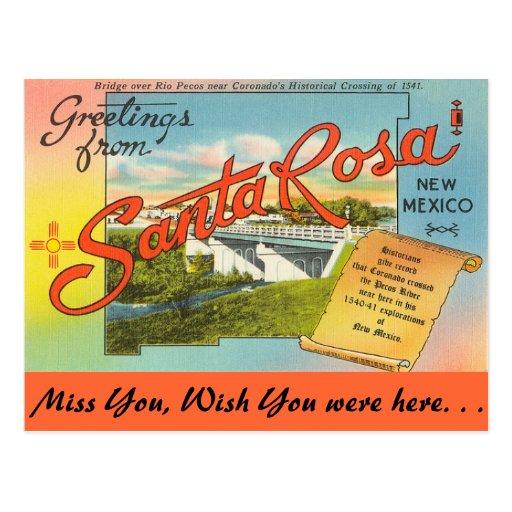 Greetings from Santa Rosa Post Card